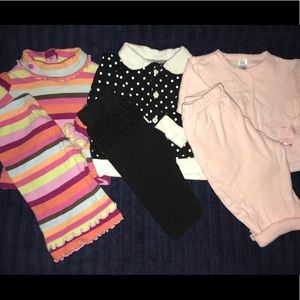 Lot 3 baby girl outfits pants size 3-6 months